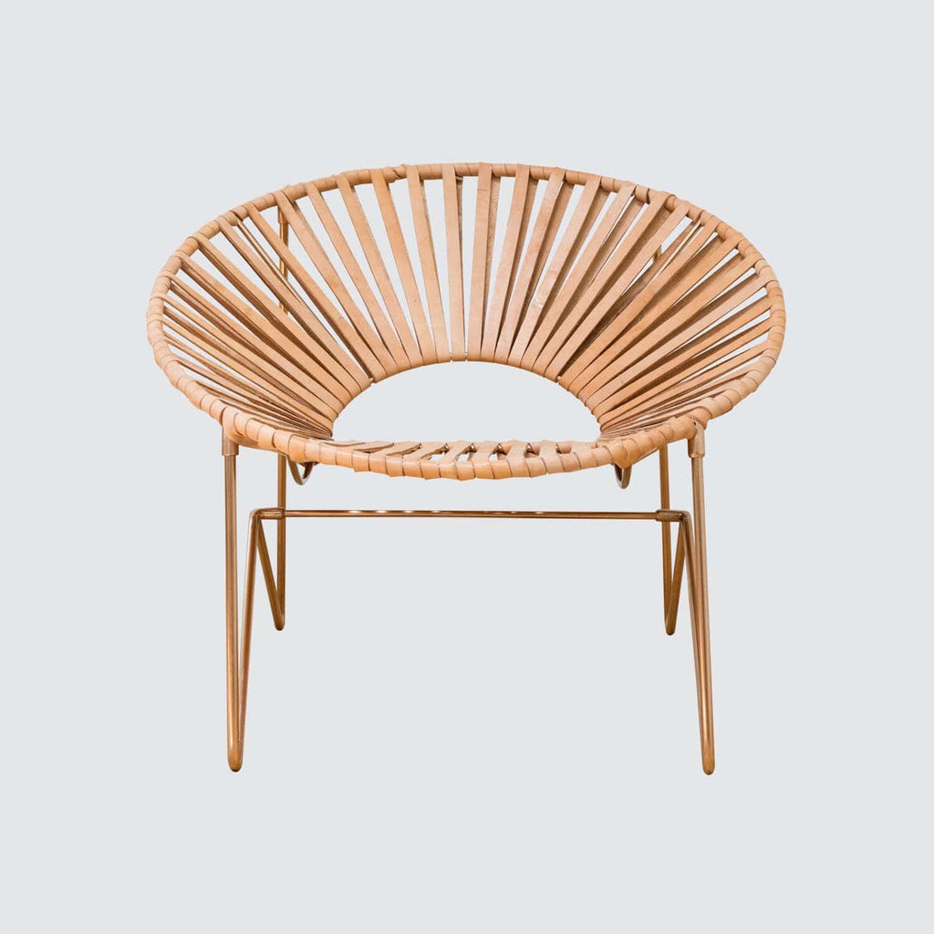 Acapulco chair leather - Aldama Chair Copper Natural