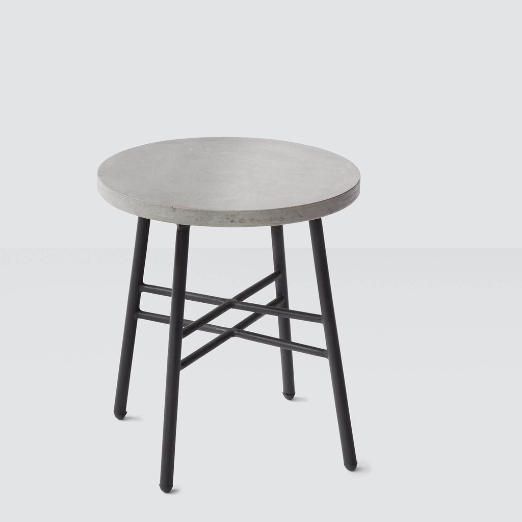 concrete side table. Polanco Concrete Side Table - Black