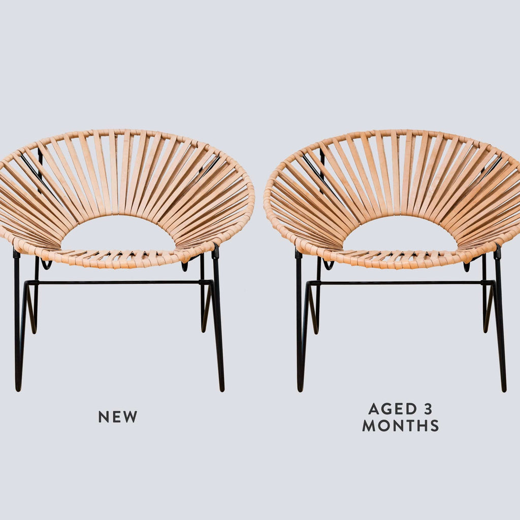 Acapulco chair leather - Aldama Chair Black Natural