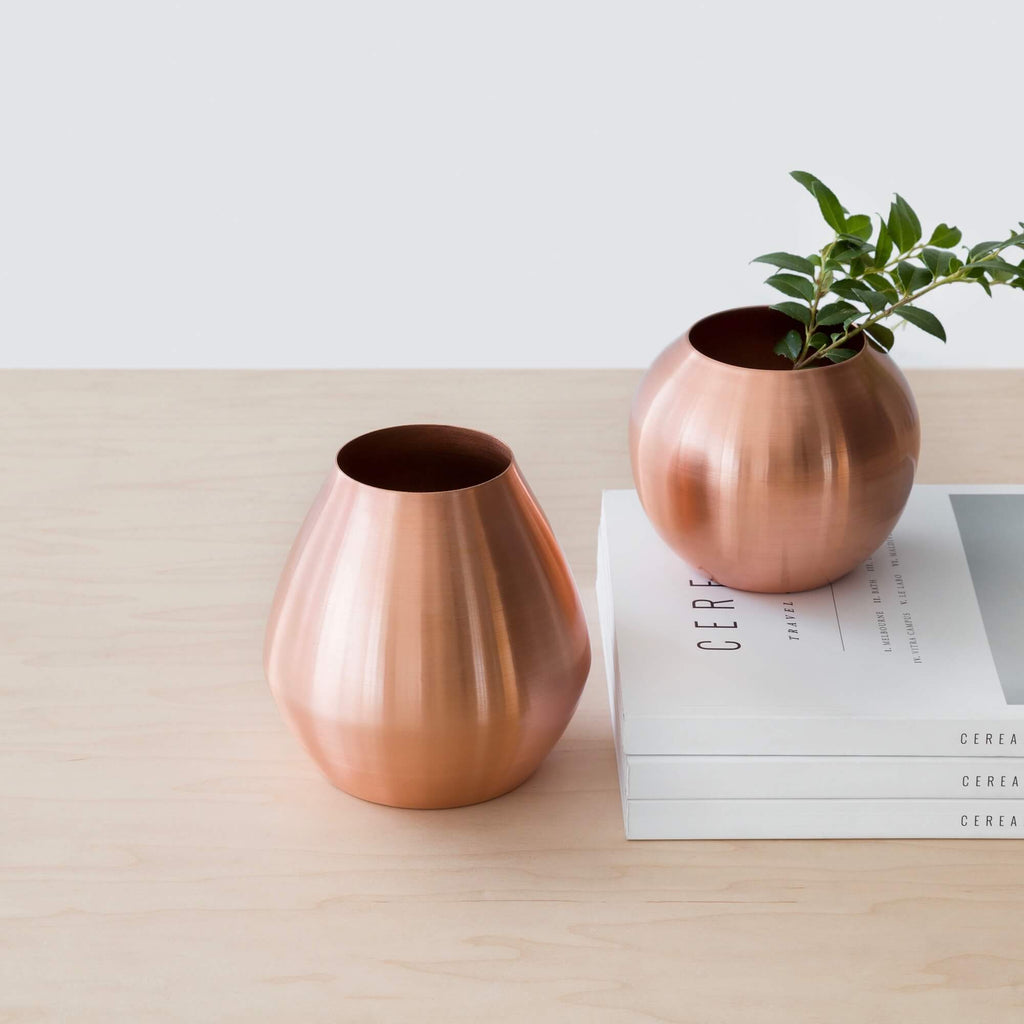 Pashan Copper Vases Multiple Sizes & Copper Bud Vases | Metallic Flower Vases \u2013 The Citizenry