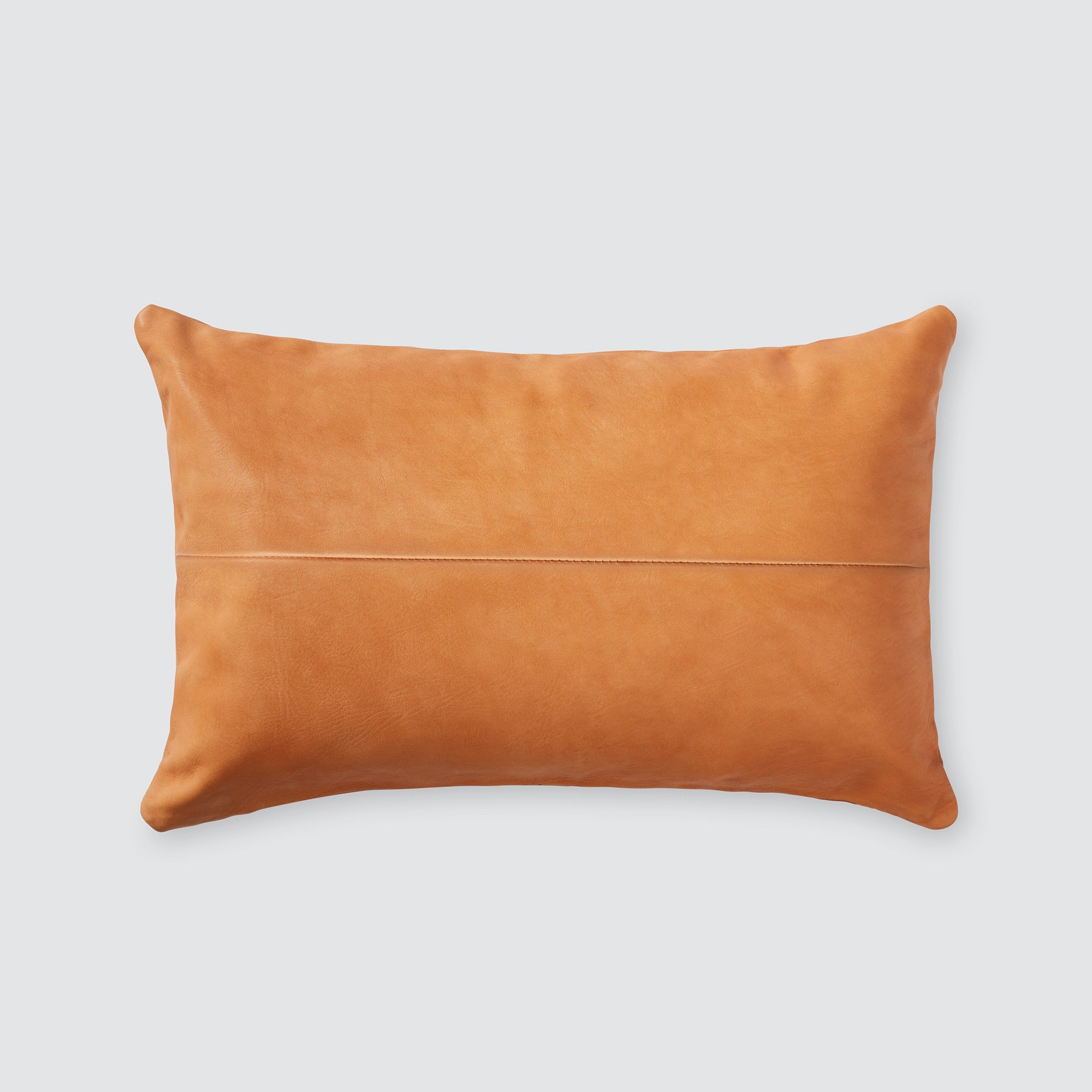 Leather Lumbar Pillow Handcrafted In Argentina The Citizenry