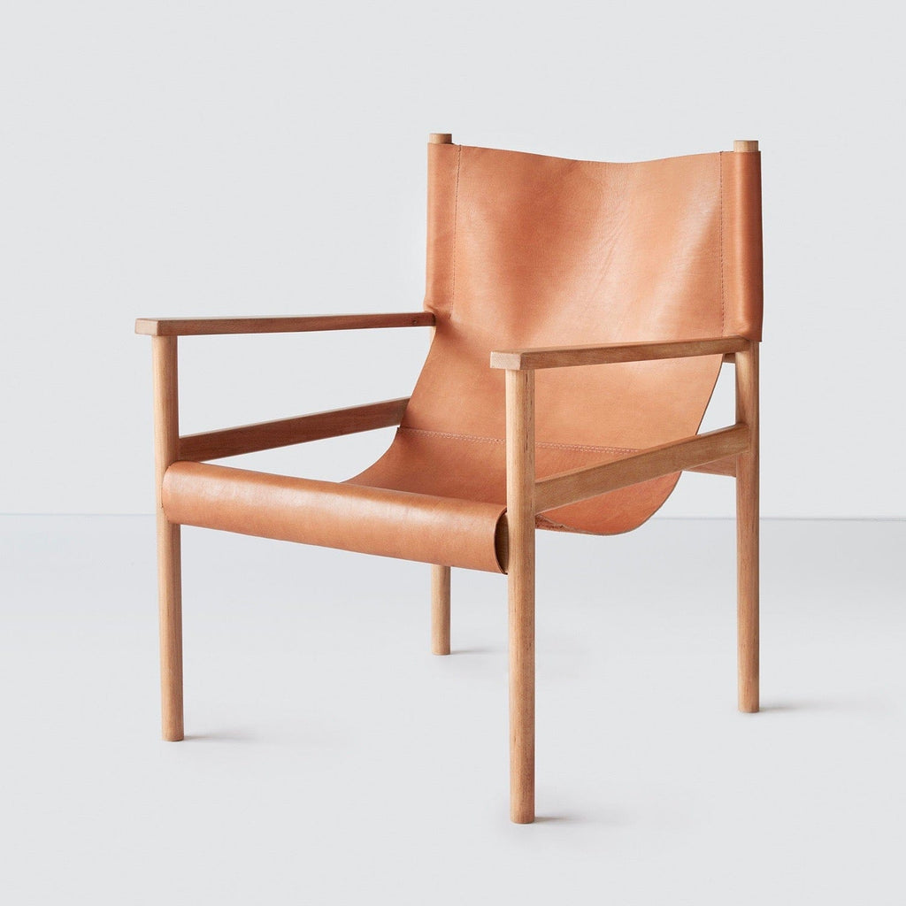 Modern Safari Chair In Leather The Citizenry