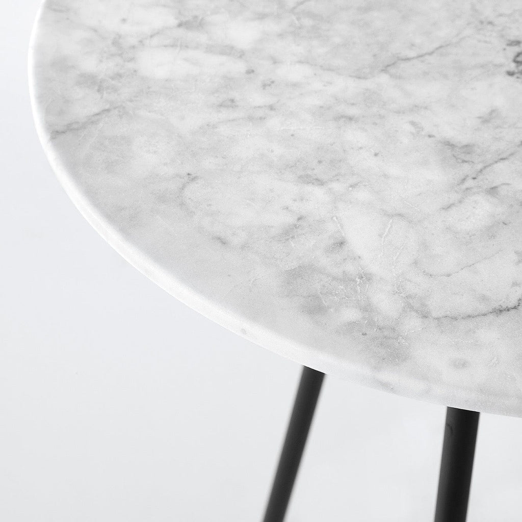 Grey Marble Side Table Accent Tables The Citizenry