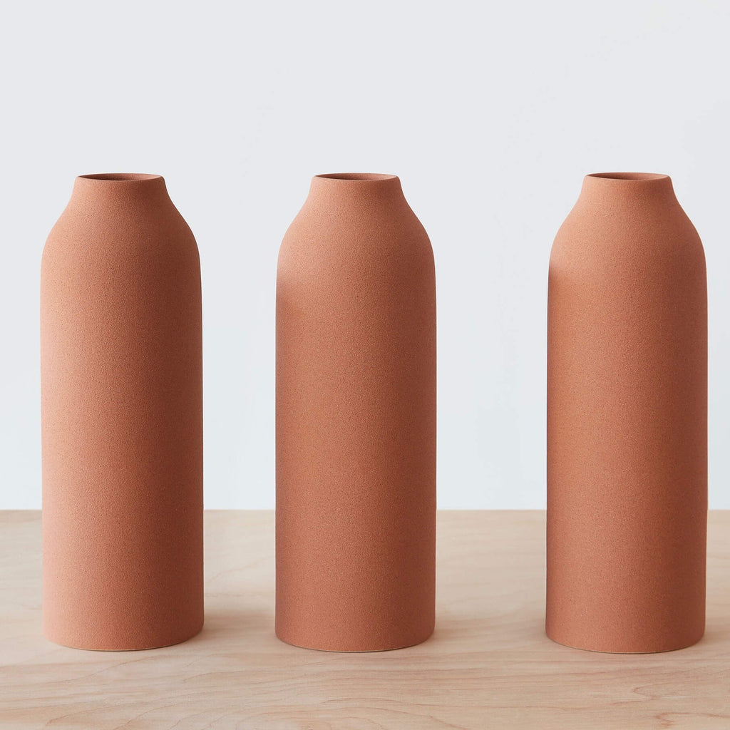 Tall terracotta clay vase handcrafted in fair trade environement engobe vase reviewsmspy