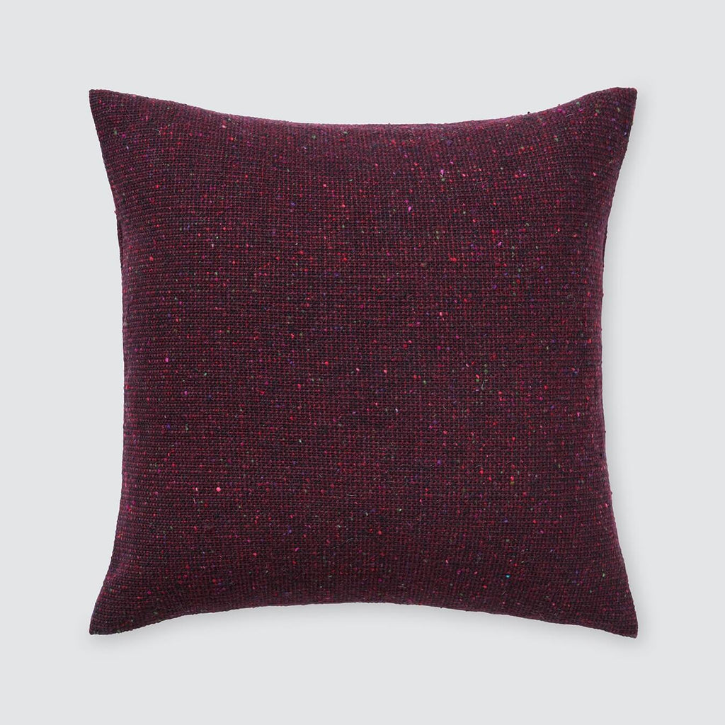 Burgundy Throw Pillows -Tweed | Hand-loomed in Ireland – The Citizenry