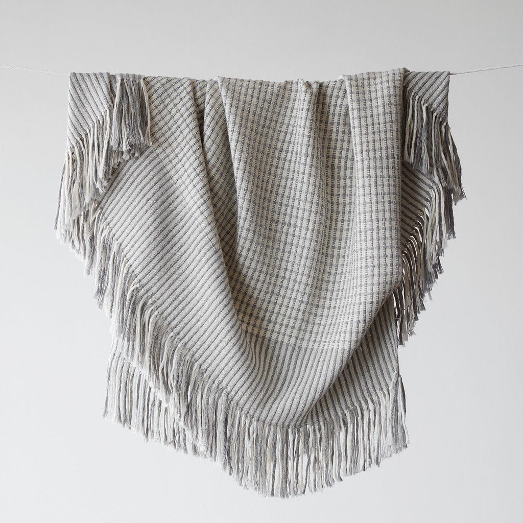Grey Alpaca Throw Blanket Ethically Crafted In Peru