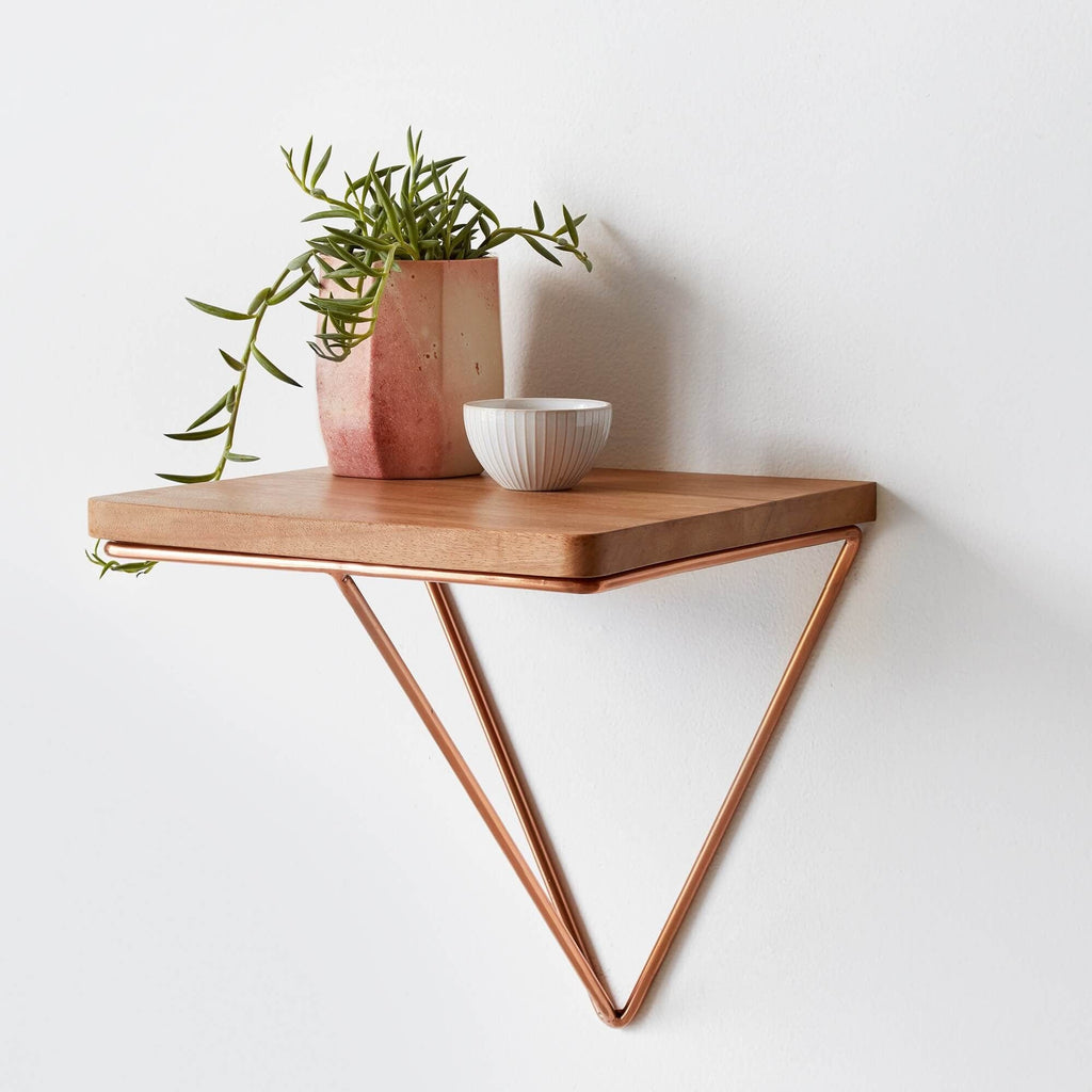floating side table copper the citizenry rh the citizenry com floating bedside table shelf floating bedside table shelf