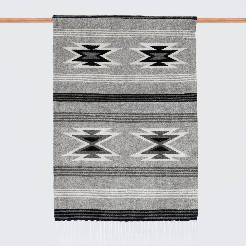 Aztec Print Rug Black Grey Amp Cream The Citizenry