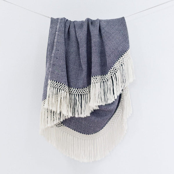 Diamanta Throw - Indigo