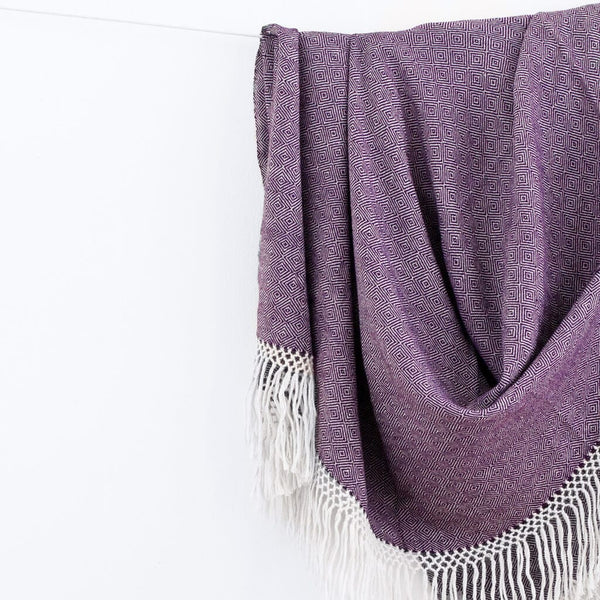 Diamanta Throw - Plum