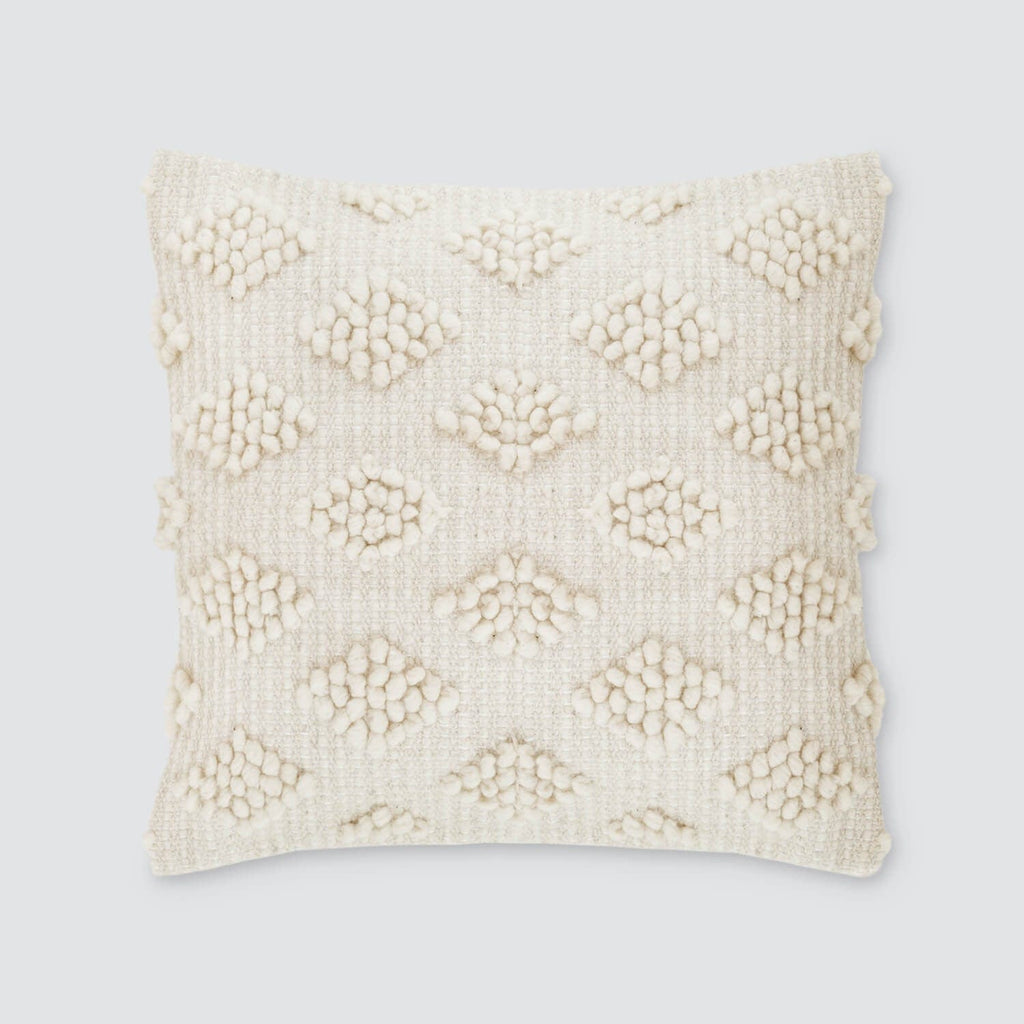textured throw pillows in cream sheep's wool – the citizenry - estrato pillow
