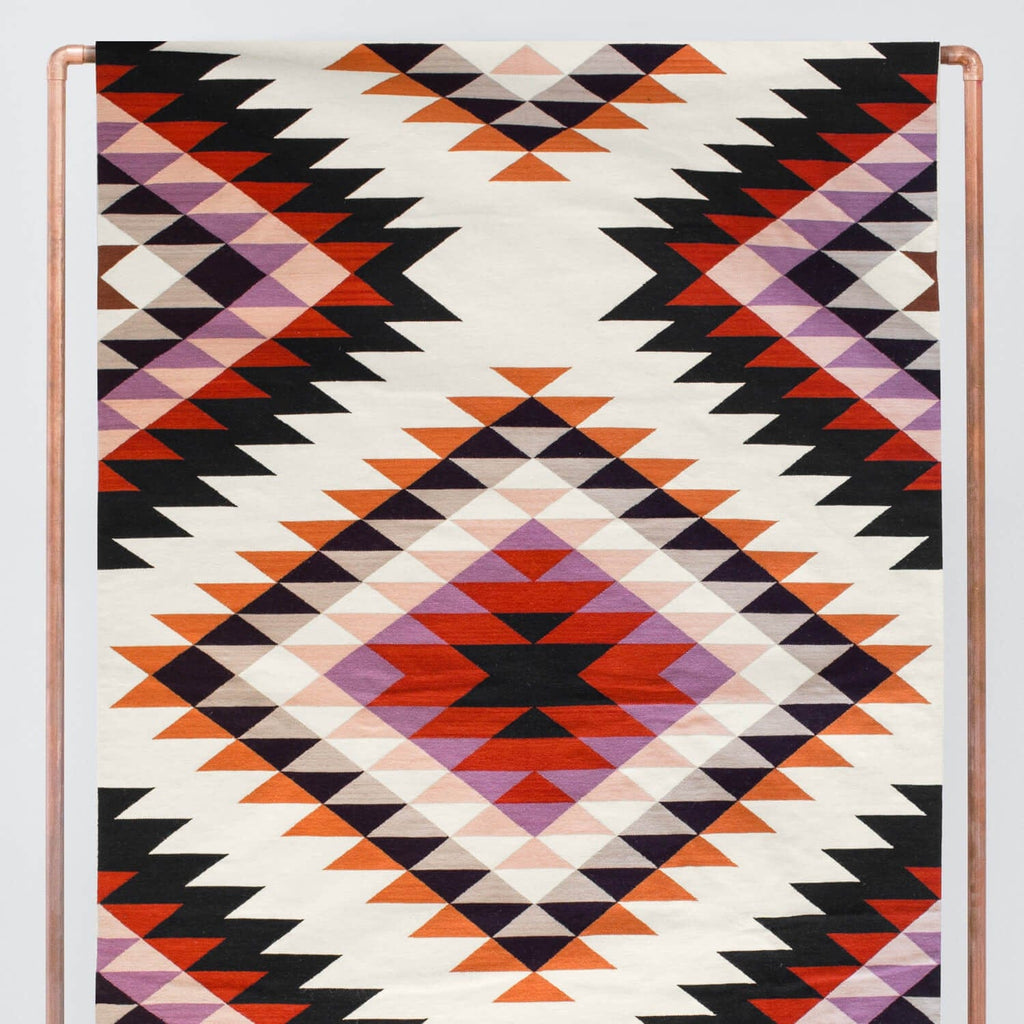 Bright Multicolored Area Rugs Hand Woven Wool Rug The