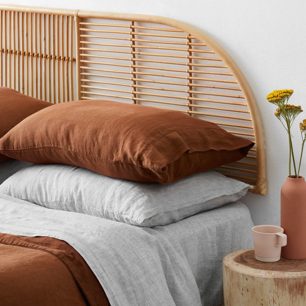 Modern Hanging Rattan Headboard Handcrafted In Indonesia The Citizenry