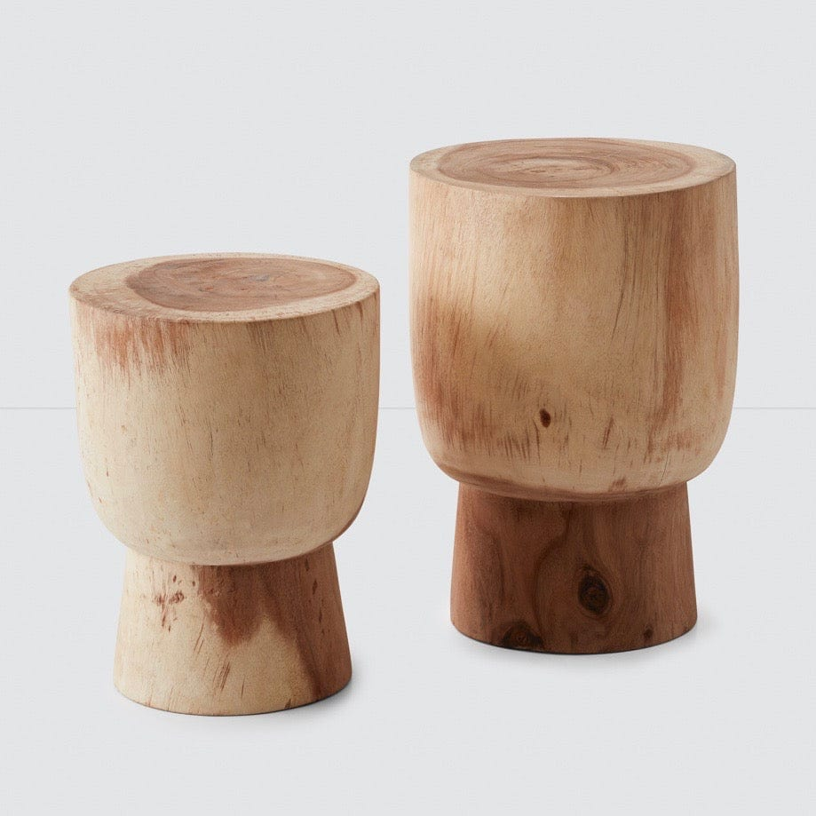 Surprising Lawu Stump Stool Suar Multiple Sizes Andrewgaddart Wooden Chair Designs For Living Room Andrewgaddartcom