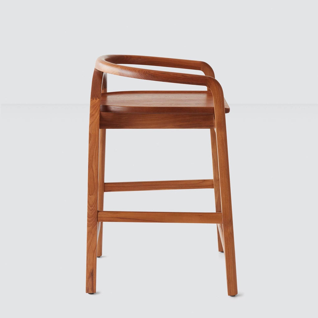 Solid Wood Counter Stool   Sustainably Sourced Teak Wood – The Citizenry