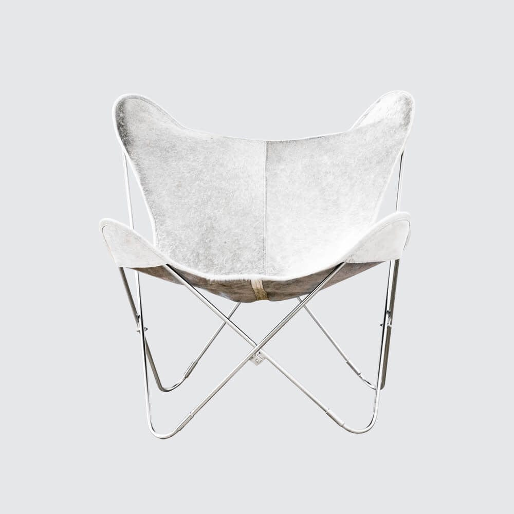Butterfly chair black - Palermo Chair Chrome Grey Cowhide