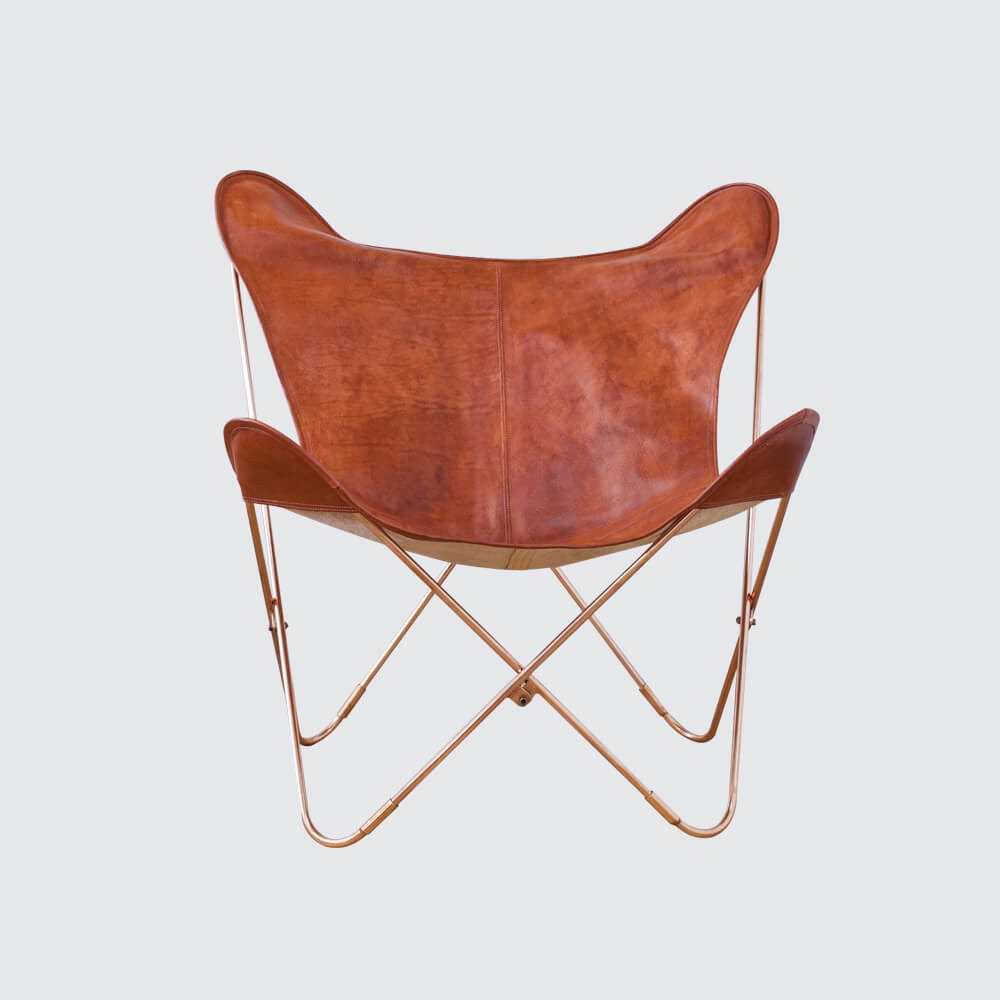 Butterfly chairs - Palermo Chair Copper Cognac