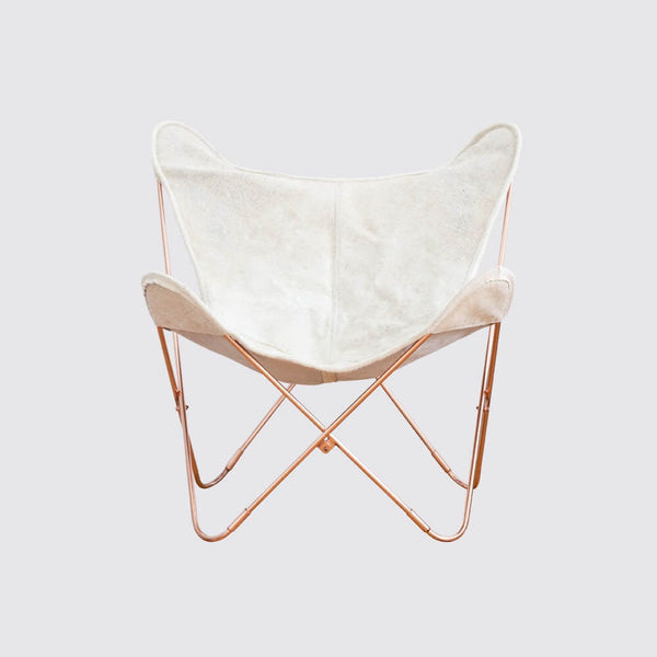 Palermo Chair - Copper & Cowhide
