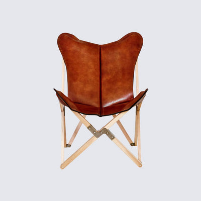 Handcrafted Leather Sling Chair