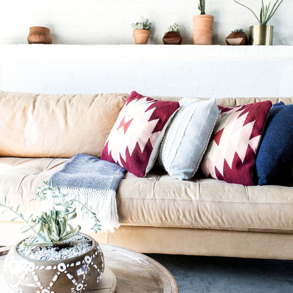Pink Oaxaca Throw Pillow | Handwoven in Mexico – The Citizenry