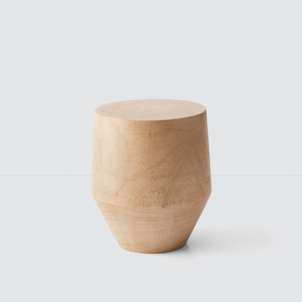 Modern Wood Stump Stool Light Wood Accent Table At The