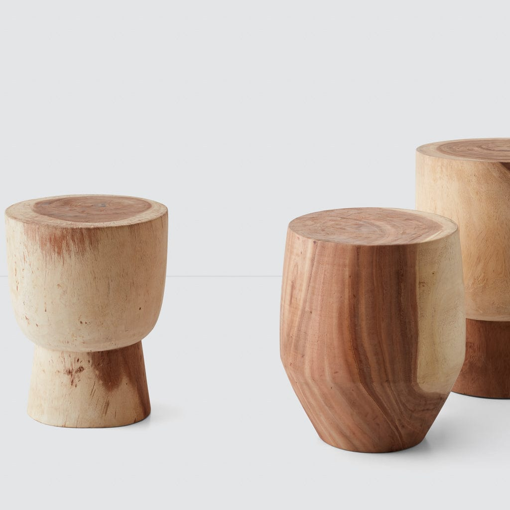 Marbled Wood Stump Stool Modern Wood Furniture At The
