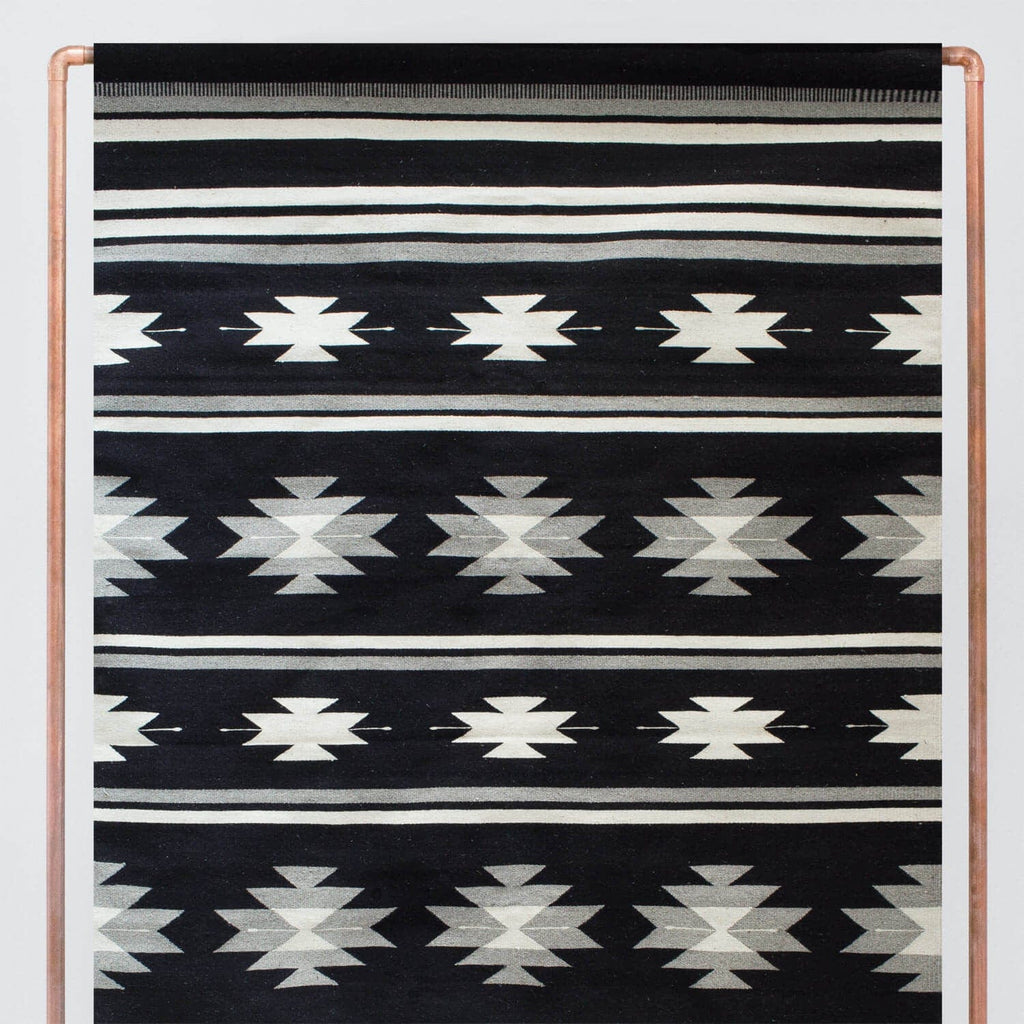 Flat Weave Rugs 6 X 9 Black And White Wool Rug The