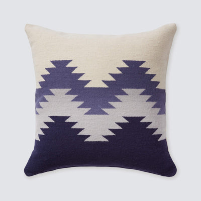 Modern Wool Pillow in Geometric Ombre Pattern