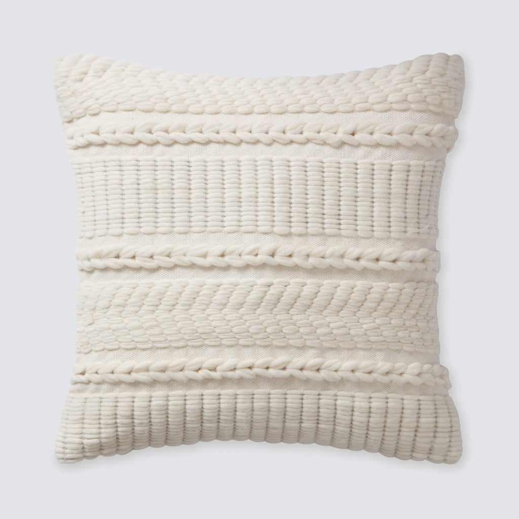 Textured Throw Pillow Handcrafted By Artisans In Peru
