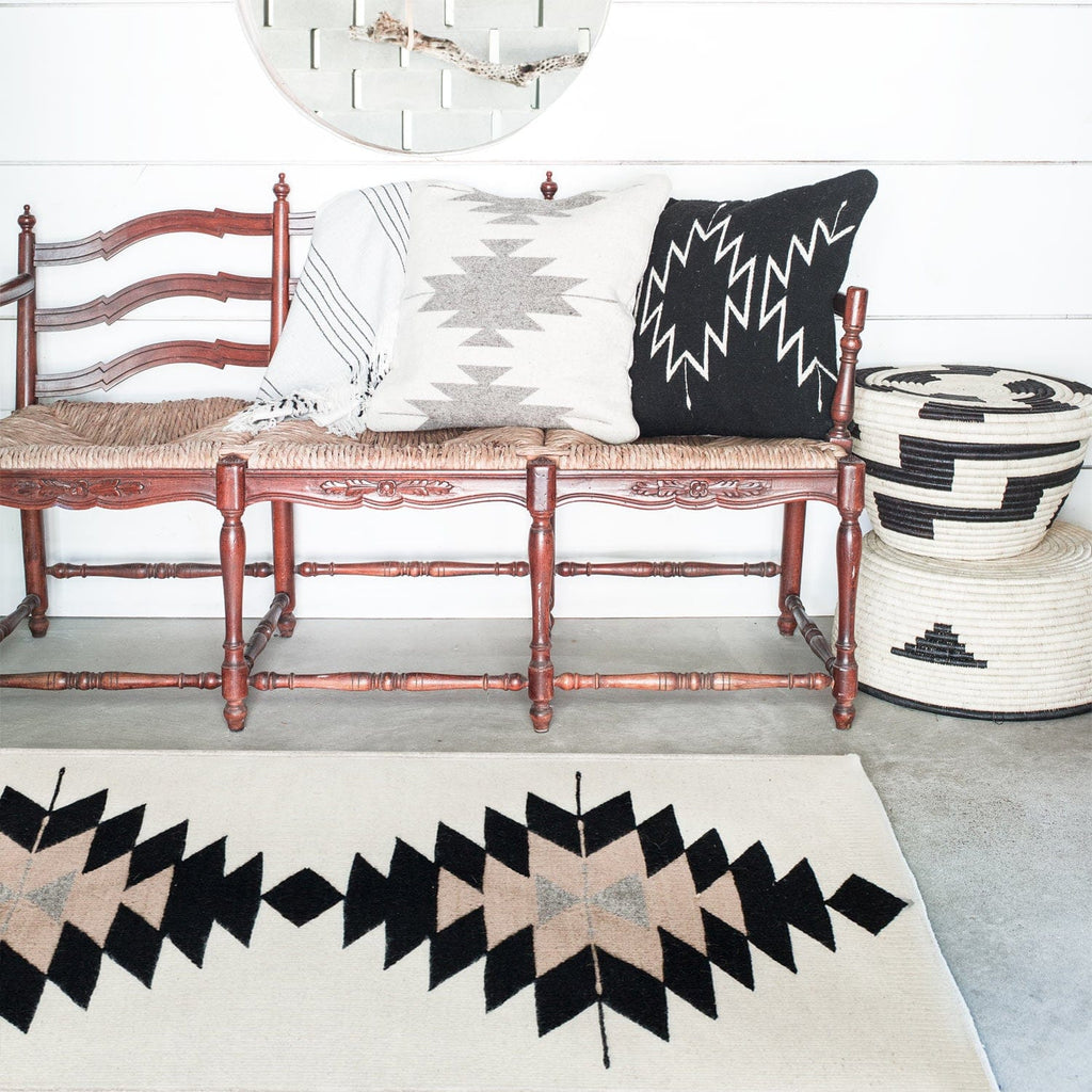 Multiple Rugs In Living Room Zapotec Rugs Neutral Aztec Design Multiple Sizes The Citizenry