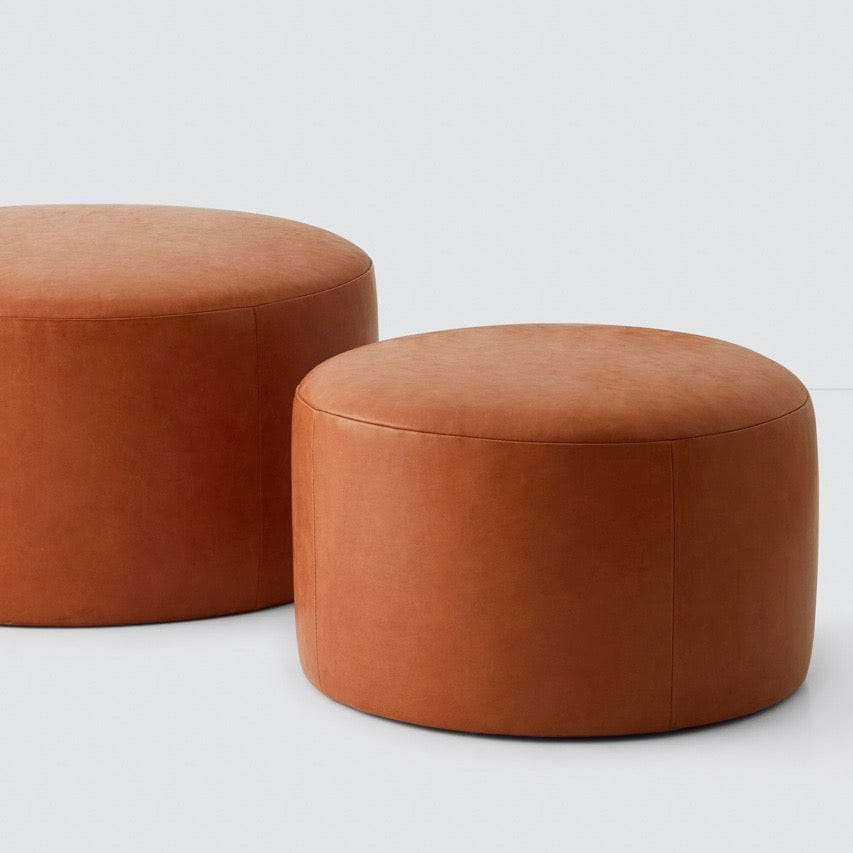 Large Leather Ottomans Poufs Ethically Crafted Leather Furniture The Citizenry