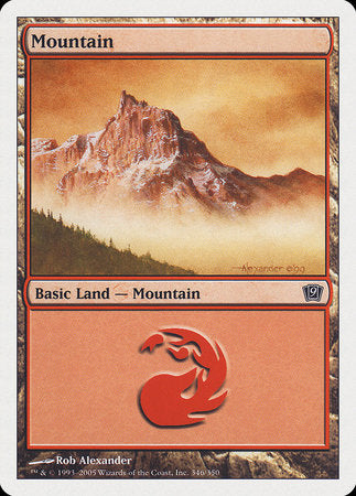 Mountain (346) [Ninth Edition] | The CG Realm