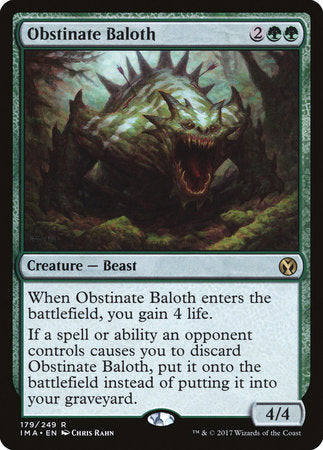 Obstinate Baloth [Iconic Masters] | The CG Realm