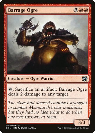Barrage Ogre [Duel Decks: Elves vs. Inventors] | The CG Realm