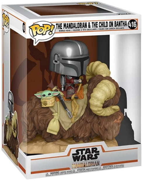 POP! DELUXE MANDALORIAN - MANDO ON BANTHA W/ CHILD | The CG Realm