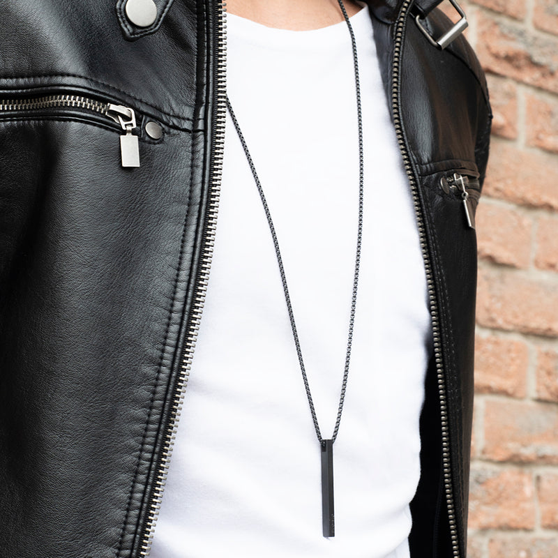 Men's Necklaces - The Bar - Matte Black - Preview