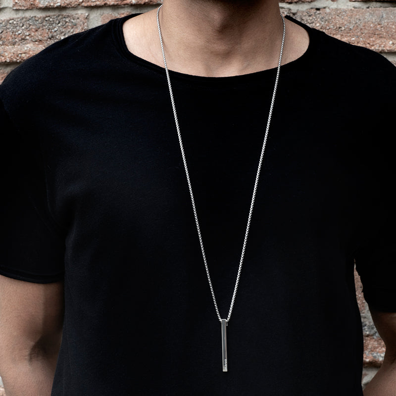 Men's Necklaces - The Bar - Silver - Preview