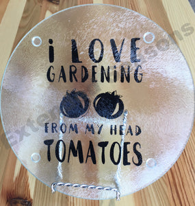 I Love Gardening Cutting Board