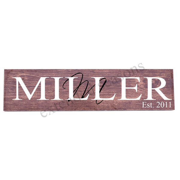 Personalized Wood Tile Sign - Initial