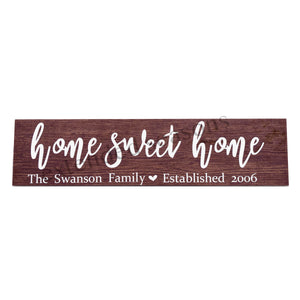 Personalized Wood Tile Sign - Home Sweet Home