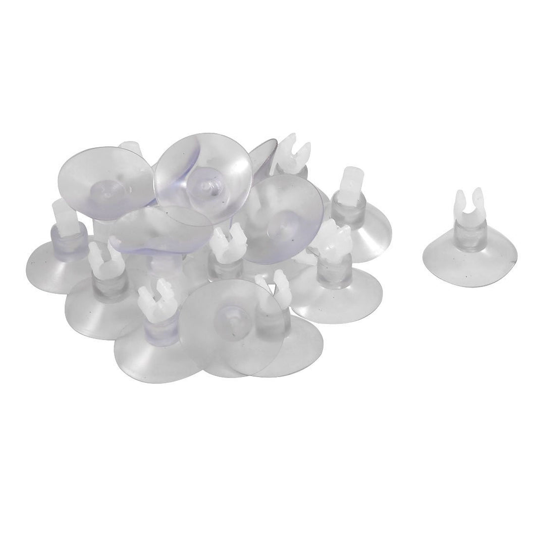 Jardin Suction Cup Airline Tube 20-Piece Holders/Clips/Clamp - clear