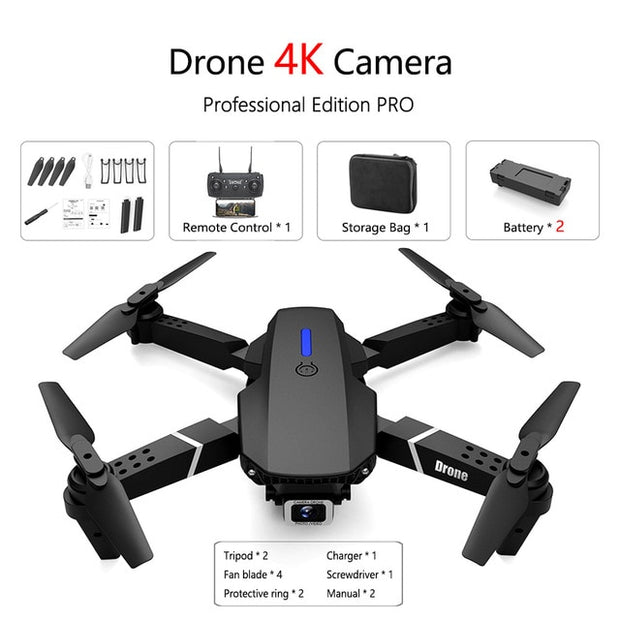 Fold FPV Drone Quadcopter with Camera Dron Professional 4K Drone Height Hold Drone 4K Dual Camera Drones Quadrocopter Toy