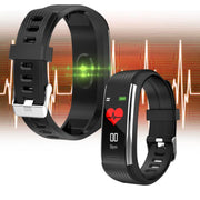 Bluetooth pedometer heart rate sleep blood pressure silicone smart sports bracelet