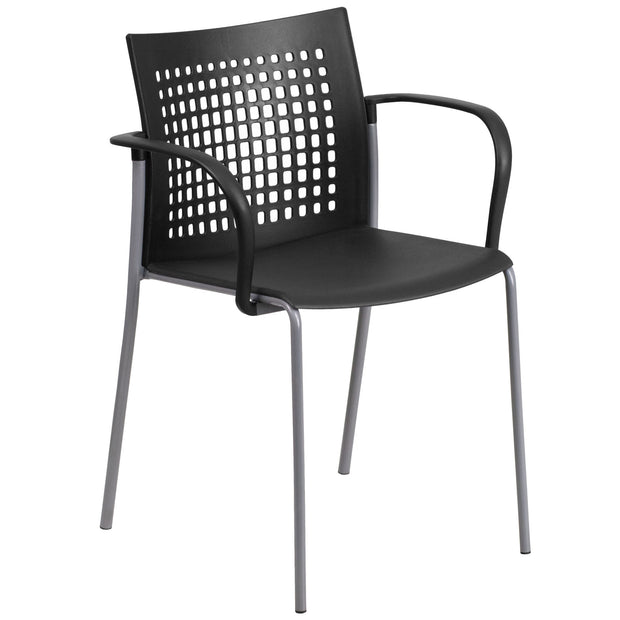 HERCULES Series 551 lb. Capacity Stack Chair with Air-Vent Back and Arms