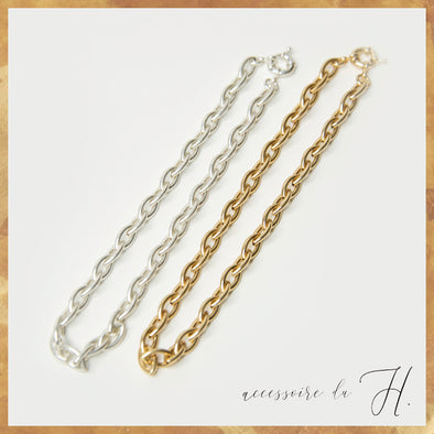 【accessoire du H.】マーキスチェーンネックレス