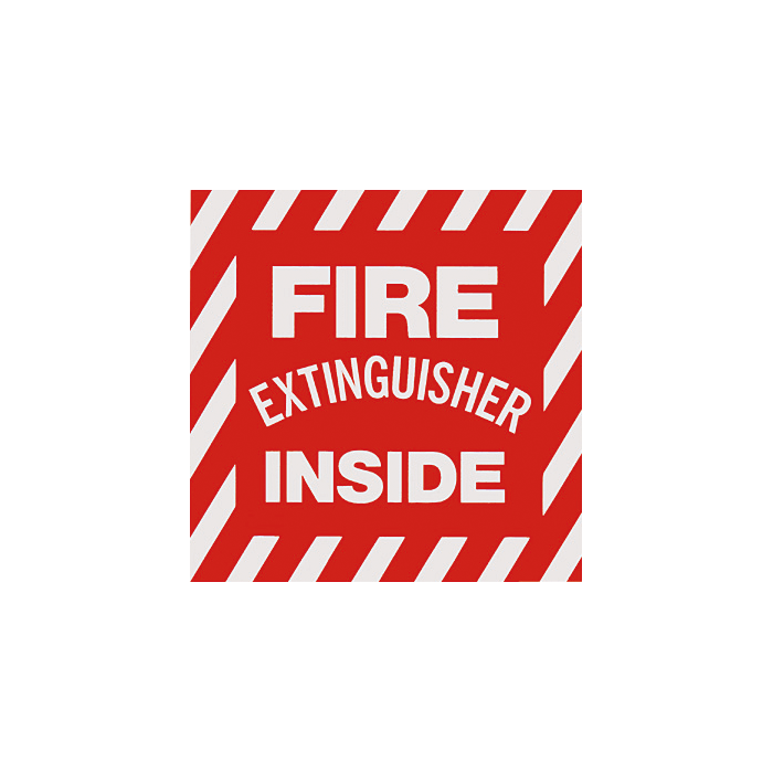 "Fire Extinguisher Inside Sign, 4"" x 4"""