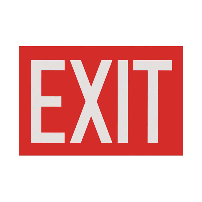 "Exit Sign, Red, 12"" x 8"""