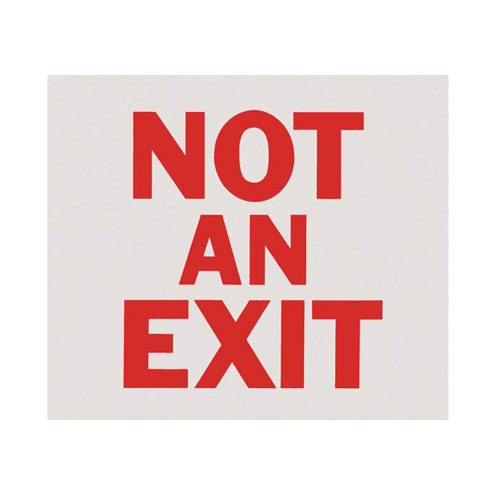 "Not An Exit Sign, 10"" x 9"""