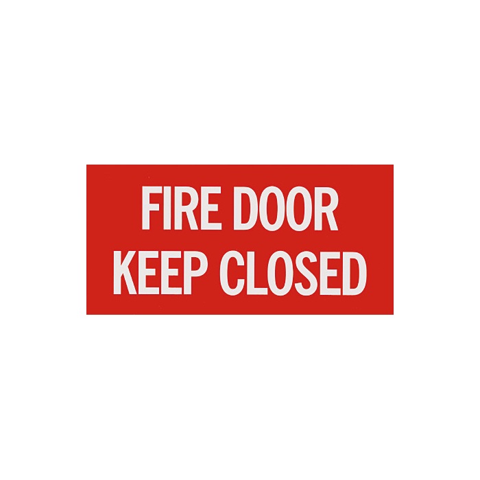 "Fire Door - Keep Closed Sign, 12"" x 6"""