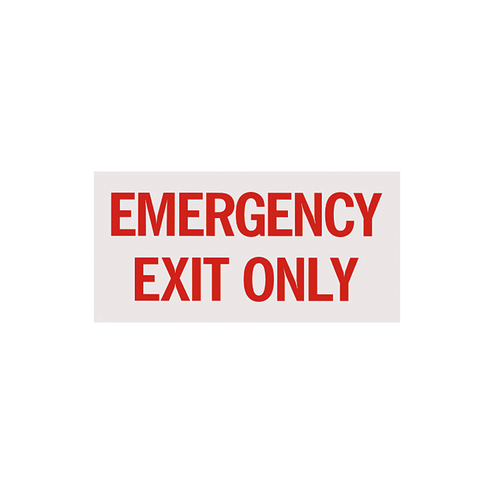 "Emergency Exit Only Sign 12"" x 6"""